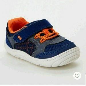 NWT Baby Boys Ari Sneaker Mini Shoes Navy & Orange